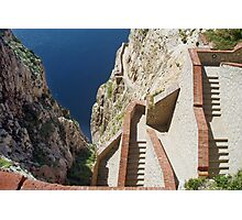 Staircases to the sea and the caves Photographic Print