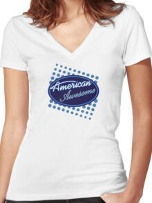 American Awesome Women's Fitted V-Neck T-Shirt