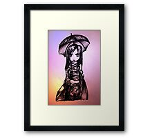 Anime Gothic Girl Framed Print