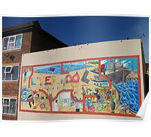 Liverpool street mural Poster