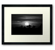sunset  black and white Framed Print
