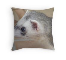 Georgie ferret - look at those whiskers! Throw Pillow