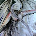 "Pointing angel in oils ""finding direction"" by JP100"