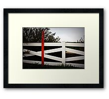 warning:pipeline Framed Print