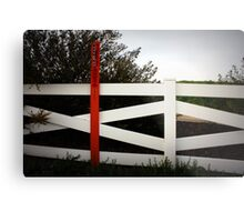 warning:pipeline Metal Print