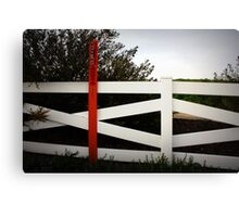 warning:pipeline Canvas Print
