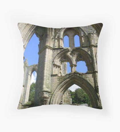 Rievaulx Abbey arches - North Yorkshire Throw Pillow