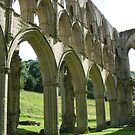 Rievaulx Abbey columns and arches - North Yorkshire by monkeyferret