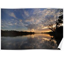 Evening River Reflections Poster