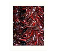 Chillies. Art Print