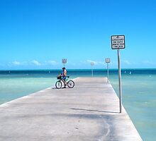 Key West Florida Aqua Marine Blue ocean under the Key West Pier by Rick Short