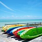 Key West Florida Aquamarine Blue Kayaks primary colors by Rick Short