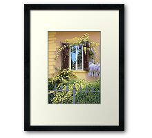 FLORENCE, THE SPRING WINDOW Framed Print