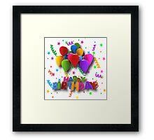 Fun Happy Birthday Balloons Framed Print