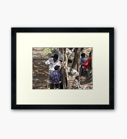 Livelihood under a tree. Framed Print
