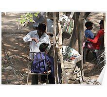 Livelihood under a tree. Poster