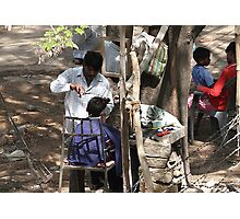 Livelihood under a tree. Photographic Print