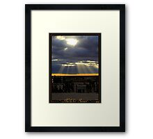 Nullabor Sunset Framed Print