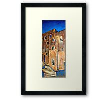 Back alley by night Framed Print