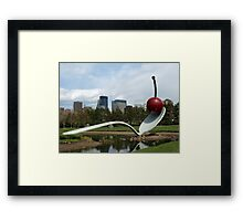 Spoon & Cherry Sculpture Framed Print