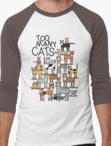 Too Many Cats Men's Baseball ¾ T-Shirt