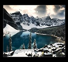 Moraine Lake (Bordered) by Chad Kruger