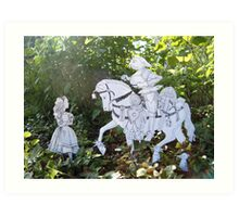 Alice and the White Knight Art Print