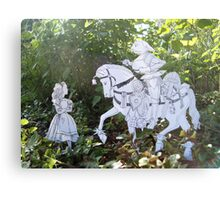 Alice and the White Knight Metal Print