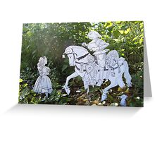Alice and the White Knight Greeting Card