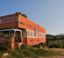 abandoned corsica moving truck by churros
