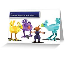 Final Fantasy Chocobo Training  Greeting Card