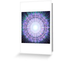 Blast of Purple Buddha Bliss Greeting Card