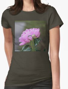 Pink Peony Faux Painting T-Shirt