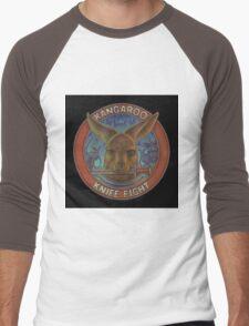 Kangaroo Knife Fight Men's Baseball ¾ T-Shirt