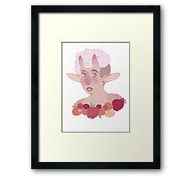 flower faun  Framed Print