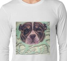 Dog Ornament in Oil Pastels Long Sleeve T-Shirt