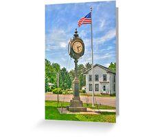 Memorial Clock Greeting Card