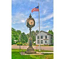 Memorial Clock Photographic Print