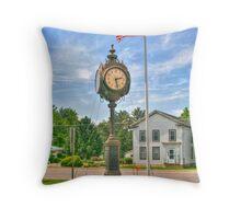 Memorial Clock Throw Pillow