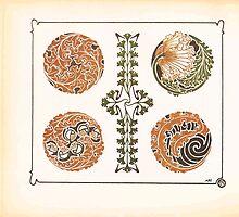 Maurice Verneuil Georges Auriol Alphonse Mucha Art Deco Nouveau Patterns Combinaisons Ornementalis 0022 by wetdryvac