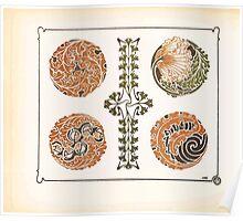 Maurice Verneuil Georges Auriol Alphonse Mucha Art Deco Nouveau Patterns Combinaisons Ornementalis 0022 Poster