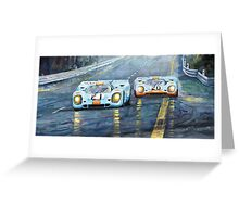 Porsche 917 K GULF Spa Francorchamps 1970 Greeting Card