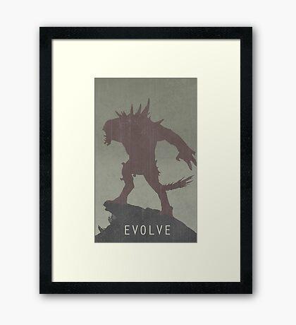 Evolve Game Poster Framed Print