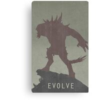 Evolve Game Poster Canvas Print
