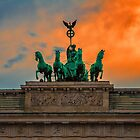 Germany. Berlin. The Brandenburg Gate. Quadriga. by vadim19