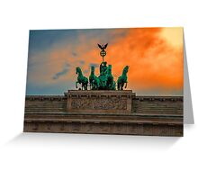 Germany. Berlin. The Brandenburg Gate. Quadriga. Greeting Card