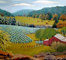 Landscape Painting - Missouri Vineyard - 36 x 48 Oil by Daniel Fishback