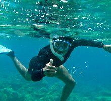 Snorkeling bud in Bali by Michael Brewer