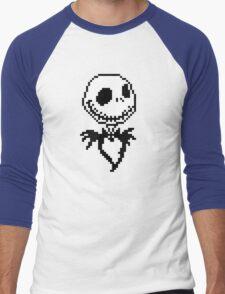 Jack Skellington - pixel art Men's Baseball ¾ T-Shirt