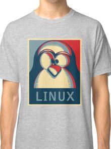 Linux tux penguin obama poster logo Classic T-Shirt